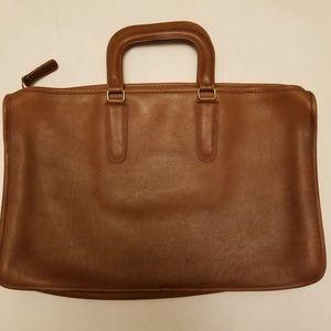 Coach Embassy Briefcase Business Satchel Bag Brown